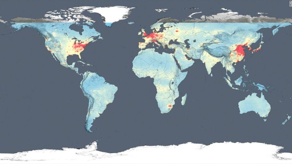 NASA revela imágenes de la contaminación mundial