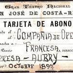 La Costa Rica de Ayer para entrar al Teatro Nacional