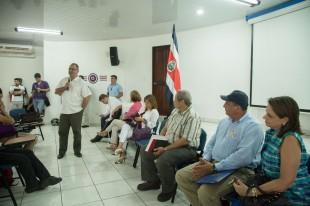 El presidente de Incopesca, Gustavo Meneses, estuvo en el reciente diálogo de Presidencia con los pescadores en Puntarenas. (Imagen de Presidencia)