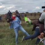 Periodista pateó a más de un inmigrante, incluyendo niños