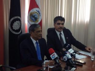 Jorge Chavarría, Fiscal General, junto a Luis Ángel Ávila, subDirector a.i. del OIJ. CRH