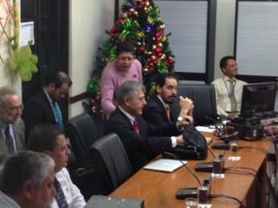 El presidente de Incofer, Guillermo Santana comparece ante los diputados. CRH.