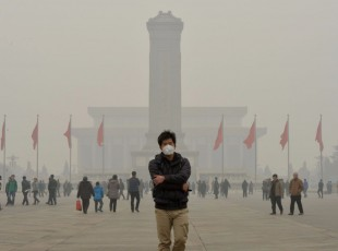 China en alerta roja. Foto AFP