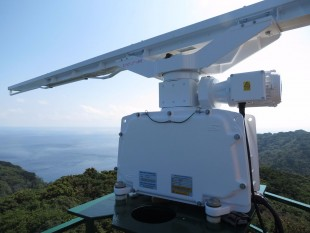 En la imagen, el Radar instalado en isla del Coco. Foto cotesía CNFL.